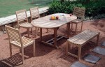 CDS 05-Cadiz with oval table and backless bench set