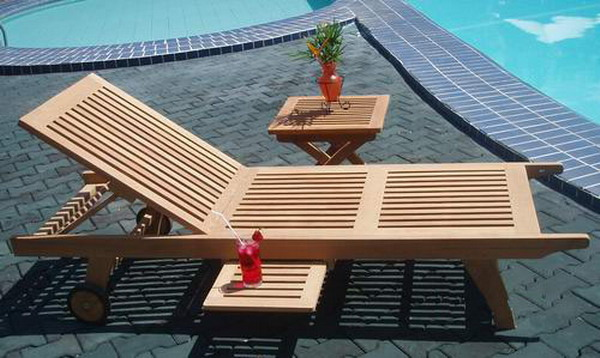 Gc 15 pattaya lounger with wheel for Outdoor furniture pattaya