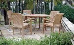 NJS 04-New Java (5 chairs) round table set